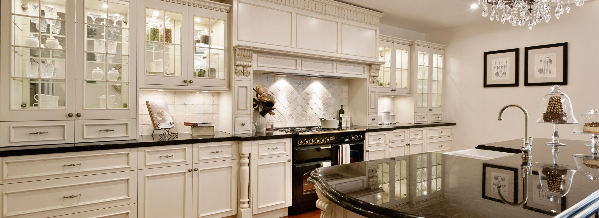 Country Kitchens With White Cupboards
